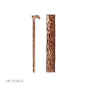 منبت کاری - منبت گلپایگان - منبت کاری عصا